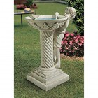 Design Toscano Summer's Splash Sculptural Birdbath