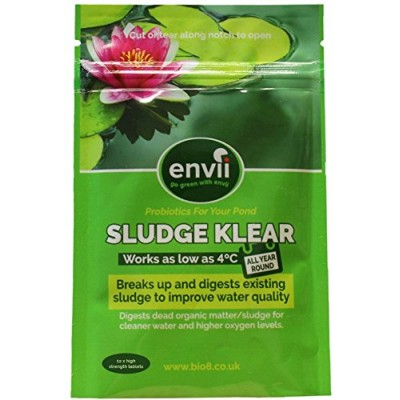 Envii Sludge Klear - Pond Sludge and Algae Remover, Treatment and Cleaner - Biological Starter That Works All Year (12 Tablets)