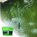 PondXpert SolarShower 200 Solar Pond Pump with Battery and LED Lights.NEW Lithium Battery. Attractive Solar Fountain.