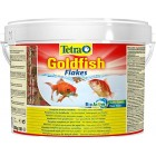Tetra Goldfish Flake Fish Food Bucket, Complete Fish Food for All Goldfish, 10 Litre